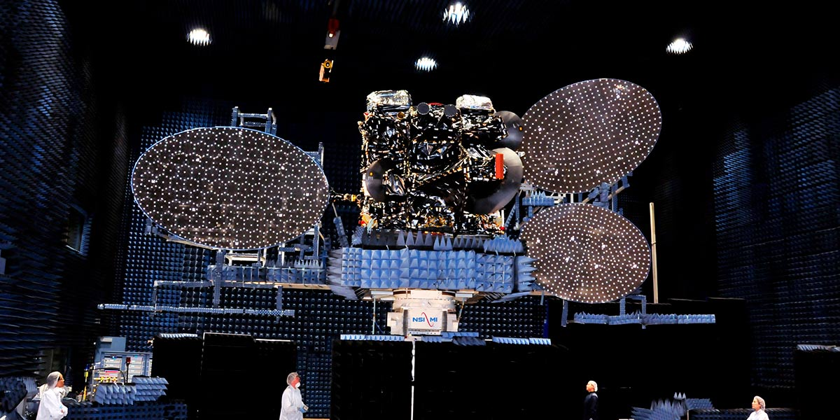 Satellite Testing in a Compact Range