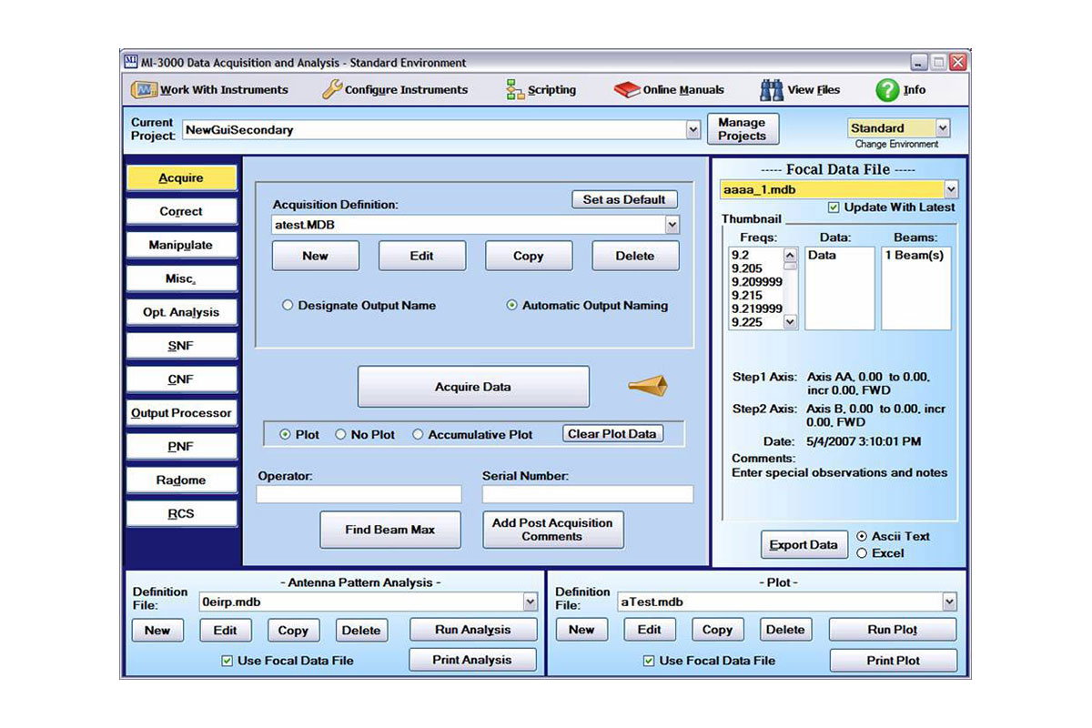 Arena Data Acquisition Software | Software Products