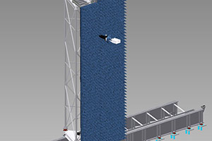 12.2 m x 12.2 m Vertical PNF Measurement System